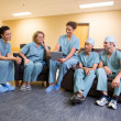 Stock Photo: Surgical Team in Lounge