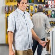 Male Customer Purchasing Tools At Shop — Stock Photo