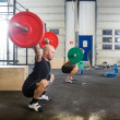Male Athletes in Cross Fitness Box — Stock Photo #50084913