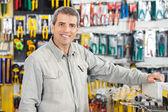 Man Standing In Hardware Store — Stock Photo