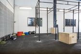 Exercise Equipment At Cross Fitness Box — Stockfoto