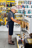 Salesman Working In Hardware Store — Stock Photo