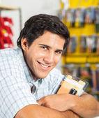 Man Smiling In Hardware Store — Stock Photo