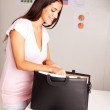 Happy Prepared Business Woman — Stock Photo #5713277