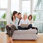 Women using laptop — Stock Photo #6611755