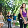 College Students Outside — Stock Photo #6989379