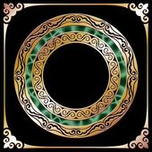 Golden circle frame — Stock Vector
