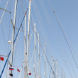 Many masts against the sky — Stock Photo