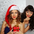 Girlfriends at christmas party — Stock Photo #15830805