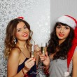 Girlfriends at christmas party — Stock Photo #15830953