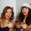 Girlfriends at christmas party — Stock Photo #15831081