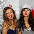 Girlfriends at christmas party — Stock Photo #17443485