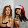 Girlfriends at christmas party — Stock Photo #17443545