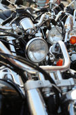 Motorcycles in a row — Stock Photo