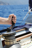 Sail Boat Winch — Stock Photo