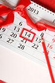 14 do calendário de fevereiro — Foto Stock