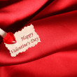 Greeting card for Valentine — Stock Photo