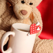 Romantic Teddy Bear — Stockfoto