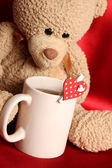 Romantic Teddy Bear — Stock Photo