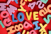Letters alphabet — Stock Photo