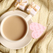 Stock Photo: Coffee and gifts for loved ones