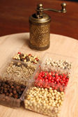 Spices and Mill — Stock Photo