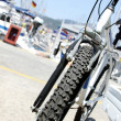 Stock Photo: Bicycle wheel closeup