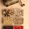 Stock Photo: Spices and Mill