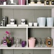 Shelves with goods — Stockfoto