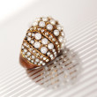 Stock Photo: Ring with pearls