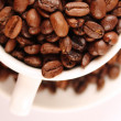 Cup of coffee beans — Stock Photo