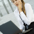 Business woman with laptop — Stock Photo #3627492