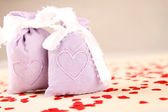 Two bags with hearts — Stock Photo