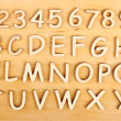 Wooden alphabet. Include numerals! — Stock Photo #40857313