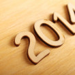 Stockfoto: Wooden number in 2014. New Year