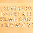 Wooden alphabet. Include numerals! — Stock Photo #41999407