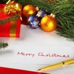 Christmas card of congratulations — Stock Photo #4214826