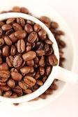 コーヒー豆のカップ — ストック写真