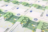 Stack of 100 euro  bills — Stock Photo