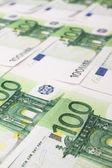 Stack of 100 euro bills — Stock Photo