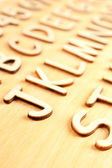Letters and numbers — Stock Photo
