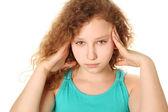 Girl headache — Stock Photo