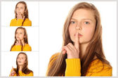 Teen girl emotions — Stock Photo