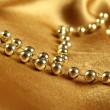 Background of golden fabric — Stock Photo #7657685