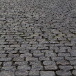 Cobblestone street perspective — Stock Photo
