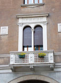 Classical window with a balcony — Stock Photo