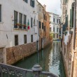 View of the water channel in the Venice — Stock Photo