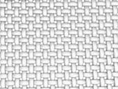 3D rendered illustration of interlaced fiber on white — Stock Photo