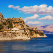 Old Byzantine fortress in Corfu - Stock Photo