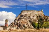 Antiga fortaleza bizantina em corfu — Foto Stock